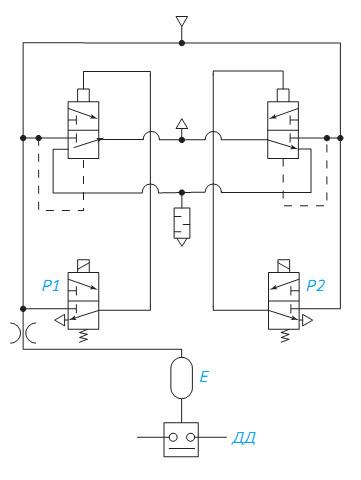 Схема пневматическая 1 3мп